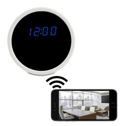 Wholesale Camera Cmos Alarm Clock - Wifi Network Camera 1920x1080P HD IP Camera Hidden Alarm Clock Mirror Spy DVR Mini Nanny DV Home Security Surveillance Camcorders