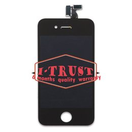 Wholesale Iphone Back Housing Lcd - screen protector ipod touch Black Touch Screen Digitizer LCD and Glass Back Housing Cover and Home Button Replacement part For iPhone 4