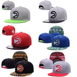Wholesale Basketball Snap Caps - 2017 HOT! Atlanta Adjustable Hawks wholesale price Snapback Hat Thousands Snap Back Hat Basketball Cheap Hat Adjustable Baseball Cap