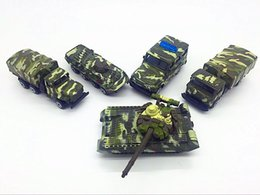 Wholesale Trolley Car Toys - 5pcs 8cm Alloy Car Model Military Truck Trolley T90 Armored Car Child Toy Car Pocket Scooter Auto Model Toy