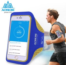 Wholesale Cycling Phone - Wholesale-AONIJIE Outdoor Cycling Waterproof Nylon Running Phone Bag Sport Arm Bag Phone Bag Running Accessory Band Gym Pounch