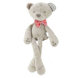 Wholesale Large Bear Stuffed Animal - Wholesale- Large Dolls Cute Stuffed Plush Bowknot Bear Baby Toys Baby Girl Boy Animal Appease Toys 35cm -- BYC074 PT49