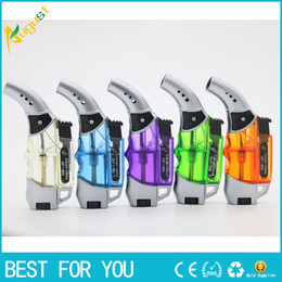 Wholesale Click Gun - GF-863 gas lighter for cigarettes new spray gun lighter click n vape advanced vaporizer torch lighter