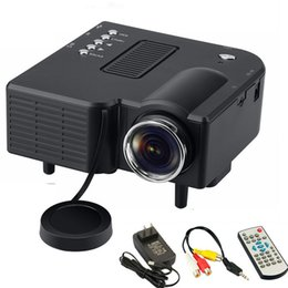 Wholesale Multi Media Mini Speaker - Hot UC28 Mini LED Digital Video Game Projector Home Multi media Player Inputs AV VGA USB SD HDMI proyector Built-in Speaker Data Show