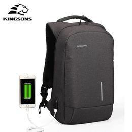 Wholesale business laptop backpacks for men - Kingsons New Arrival Anti-theft USB charging Men 13.6-15.6 inch Casual Laptop Backpack for Girls Boys Backpacks Women Mochila
