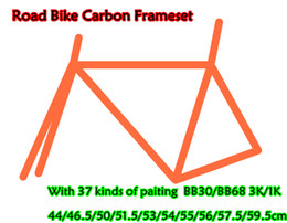 Wholesale Top Carbon Frame Road Bicycles - Free shipping 2017 top sale Road bicycle frameset with BB30 BB68 3K 1K CARROWTER10 carbon road frames 44-59.5cm 10 sizes for choice