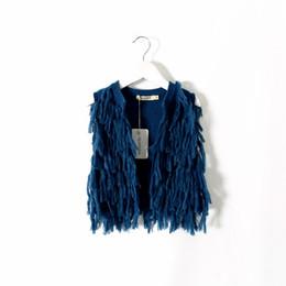 Argentina Everweekend Girls Tassle Cardigan de color caramelo de moda occidental chaqueta encantadora suéter dulce niños princesa blusa Suministro