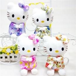 Wholesale Bear Hello - 1PC 20cm Creative Stuffed Animal Hello Kitty Kimono KT,Kawaii Doll ,Anime Toy For Girl ,Birthday's Gift Kid Toy
