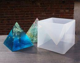 Silikonformen für harz online-1 satz Übergroße Pyramide silikonform DIY schmuck formen epoxidharz formen für schmuck