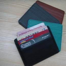 Wholesale Bank Cards Holder Purse - Super thin card bag 5 colors optional Unisex Bank card set Men's wallet Ms. Small purse free shipping