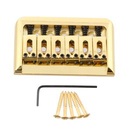 Wholesale Fixed Bridge - Gold Hardtail Fixed Top Load Hard Tail Bridge for Electric Guitar Parts
