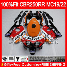 1988 cbr Coupons - Injection For HONDA CBR 250RR CBR250RR 88 89 90 91 92 93 96HM1 MC19 MC22 250 CBR250 RR 1988 1989 1990 1991 1992 1993 Fairing Repsol orange