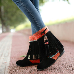 Wholesale Ladies Peep Toe Flats - wholesaler free shipping factory price hot seller combat boot Tassel shoes boot sexy women lady boot