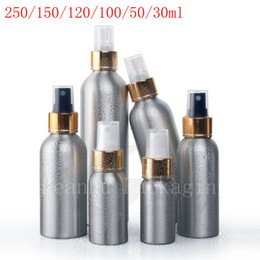 Wholesale Glass Essential Oil Containers - empty Aluminum spray containers with pump,perfume Metal bottle, Essential Oil Bottle with aluminum mist sprayer pump for perfume
