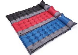 Автоматическая надувные кемпинг мат открытый палатки спальный дышащий коврик влагостойкие воздуха мат матрас с подушкой от Поставщики надувная подушка для путешествий