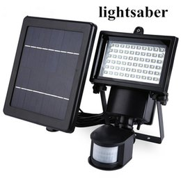 Wholesale Solar Flood Lights Panel - Hot Sale hot Solar Panel LED Flood Security Solar Garden Light PIR Motion Sensor 60 LEDs Path Wall Lamps Outdoor Emergency Lamp