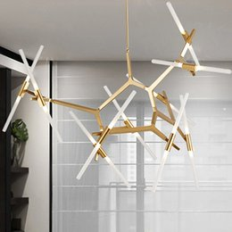 Wholesale Switch Plastic Off - Creative Branch Arts Roll Hill Agnes Pendant Light lamp Modern Italian Design Personality Living Room Restaurant Lamps fixtures