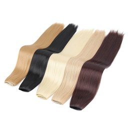 "Wholesale Clips For Natural Hair - I's a 24"" Silky Straight High Temperature Fiber Synthetic Clip in Hair Extensions for Women"