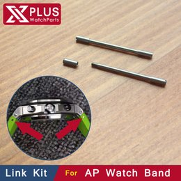 Wholesale Parts For Bracelets - Wholesale-26.8mm steel watch Screwtube Conversion link kit For men's AP watch royal-oak-offshore rubber Strap Bracelet Band tube screwbar
