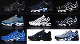 Wholesale Day Running Lights - Men Running Shoes New Air TN Men's Running Shoes Nanotechnology KPU Material athletics sports TN Sneakers Free Shipping