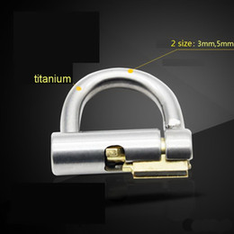 Wholesale Lock Restraint Sex - 2017 Titanium D-Ring PA Lock Glans Piercing Male Chastity Device Penis Harness Restraint BDSM Fitting PA Puncture Slave Tools Sex Toy