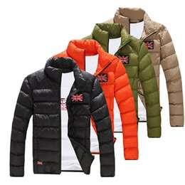 Wholesale Wholesale Padded Jackets - Wholesale- 2016 Fashion Mens Winter Casual Slim Fit Padded Jacket Coat Thick Warm Overcoat Parka Outerwear Male Clothing M-XXL New