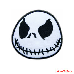 Wholesale nightmare before christmas cartoon - Jack Skellington Nightmare Before Christmas Movie Cartoon Sew Iron on Patch for clothing