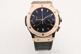 Wholesale Fusion Sports - 2017 supplier Luxury Brand watch men classic fusion chronograph quartz sports leathr blets 18k rose gold Watch Mens dive male rubber Watches