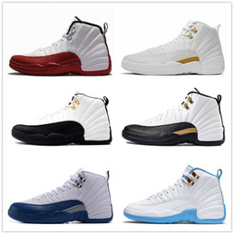 Wholesale gold dynamics - 12 cherry ovo 12s taxi university blue french blue wool nylon black dynamic pink shoes for women mens basketball shoes sneakers