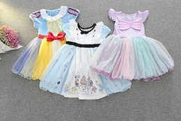 Wholesale Tutu Puff - Retail 2017 Summer New Girl Cartoon Dress Snow White Alice Mermaid Cosplay Party Dress Children Clothing 2-6Y 5098