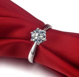 Joyería fina Anillo de diamante sintético SONct 1.5ct para mujeres Estilo coreano Compromiso 6 Configuración de diente Plata esterlina 18 K oro blanco plateado desde fabricantes
