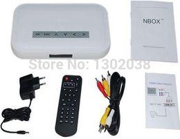 Wholesale Avi Memory Cards - Wholesale- New NBOX RMVB RM MP3 AVI MPEG Divx HDD TV USB Digital Media Memory card HD TV SD CARD Flash HARD DRIVE DISK MEDIA Player Remote
