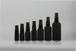 Wholesale Facial Moisturizers - 5ml 10ml 15ml 20ml 30ml 50ml 100ml black frosted bottle with black pump sprayer,for lotion perfume essential oli moisturizer facial water