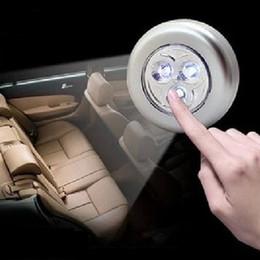 Wholesale Led Lamp Battery Stick - 3LED Multi Function LED Stick Touch Lamp 6.8cm Battery Power LED Lighting lamp Car Home