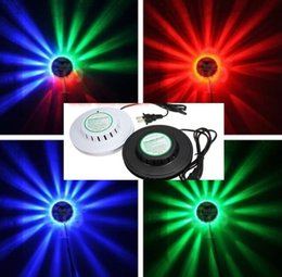 Wholesale Magic Jumps - 2017 NEW black white Sunflower LED Light Magic 7 Colors 48 LEDs auto Voice Activated LED RGB Stage Light for Disco Stage home party MYY