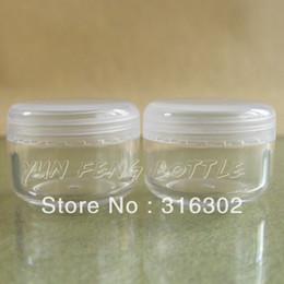 Wholesale Glitter Dust Powder Empty Jar - 50 X 10G Clear Empty Plastic Jar Nail Art Glitter Dust Powder Case Cream Pot Cosmetic Container
