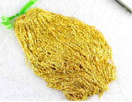 Wholesale Gold Plated 18 Inch Chains - 20 pcs lot Plating Vietnam sand Gold Necklaces Hollow chains Safety without stimulation Shining Imitation gold Necklaces Length 18 inch 2 mm