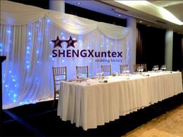Wholesale Led Curtain Wedding Backdrop - White Wedding Backdrop Curtain And Swags With LED Lights