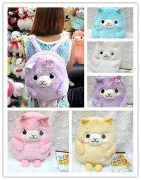 Wholesale Alpaca Bag - 2016 Fashion Alpaca Plush Bags Plushies Mochila Enfant Animals Shape Kawaii Alpaca Backpack Kids School Bag Birthday Gift
