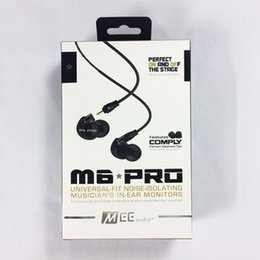 Wholesale Headset Pro - Hot MEE audio M6 PRO Universal-Fit Noise-Isolating Earbuds Musician In-Ear Monitors headsets Wired Earphones With Retail Packaging