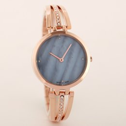 Wholesale Box Design Rose - A piece lots Top brand women watch rose gold special steel band Lady Wristwatch+free box fashion design Free shipping