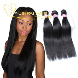 Wholesale Straight Human Hair 3pcs - 21 Years Factory 3Pcs 8''-28'' Brazilian Remy Human Hair Weave Virgin Peruvian Malaysian Indian Hair Black Straight Body Wave Loose Wave