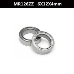 Wholesale 12mm Ball Bearings - Wholesale- 10 Pcs MR126zz 12mm x 6mm x 4mm Steel Shielded Deep Groove Ball Bearing