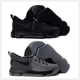 Wholesale Cheap Kd Sneakers - Hot KD 9 Wolf Grey knight Men's Basketball Shoes for Cheap Sale Kevin Durant 9s Bounce Airs Cushion Sports Sneakers Size 7-12 Free Shipping