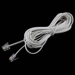 Wholesale Modem Phones - Wholesale- 1PCS High Speed 10FT 3M RJ11 6P4C Telephone Phone ADSL Modem Line Cord Cable 4 Pin #22514