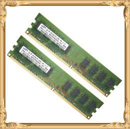 Wholesale Memory Pins - Desktop memory Samsung 4GB 2x2GB 800MHz PC2-6400U DDR2 PC RAM 800 6400 4G 240-pin Free shipping