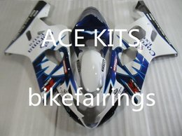 Wholesale Buy Fairings - New ABS motorcycle Fairing Kits 100% Fit For Suzuki GSXR600 GSXR750 2004 2005 600 750 04 05 K4 bodywork set hot buy Blue and White WQ6