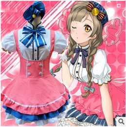Wholesale Japanese Princess Anime - Japanese Anime Cos Lovelive Candy dress Lolita princess Maid costume Cosplay dress One size
