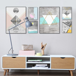 Wholesale Wall Textures Modern - Modern Nordic Abstract Geometric Texture Shape Big Wall Art Print Poster Canvas No Frame Living Room Home Decor Picture Painting