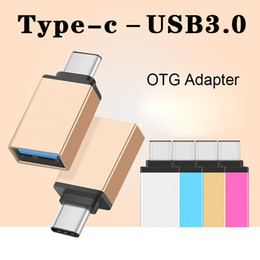 Wholesale Usb Otg Data - Metal USB 3.1 Type C OTG Adapter Male to USB 3.0 A Female Converter Adapter OTG Function for Macbook Google DHL CAB169
